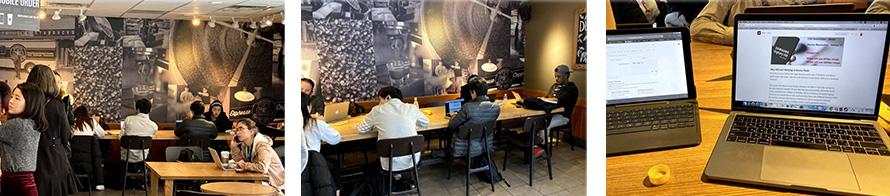 בבתי קפה בטורונטו